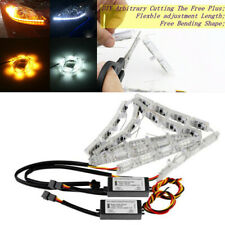 Car LED Strip DRL Sequential Flow Headlight Switchback Runners Telescopic Signal
