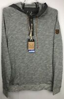 Los Angeles Lakers NBA Men's M - L Pullover Henley Light Weight Hoodie Gray NWT