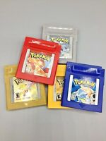 Nintendo GameBoy Pokemon Games Red, Yellow, Blue, Gold, or Silver NEW Batteries