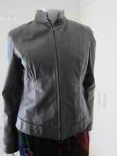 BUFFALO LEATHER SKIN brown woman jacket size 12 CIF A 58920323