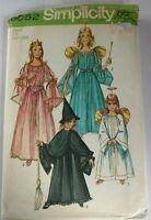 Vintage Girls Angel Princess Ferry Witch costume Sew Pattern Sz 2 4  Uncut 9052
