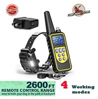 Dog Training Collar Shock Remote Waterproof Rechargeable 880 Yard Pet Large New