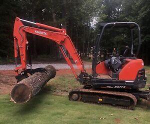 Kubota KX018-KX41-KX61-U15-U17-U20-U25 Hydraulic Pin-on Excavator Thumb