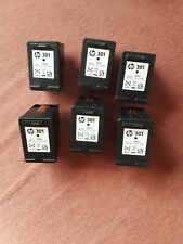 6 x Empty HP301 Black ink cartridges for refilling