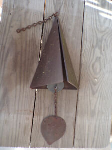 Iron Triangle Bell - Pyramid Wind Bell Chime - Rich Tone - Vintage Coniff Style