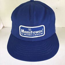 Vintage 1980s Manitowoc Ice Machines & Reach Ins Snapback Foam Trucker Hat Cap