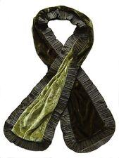 echarpe fantaisie femme velours double face vert et vert clair