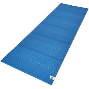Reebok Compact Folding Versatile Non Slip Home Exercise Training Yoga Mat, Blue
