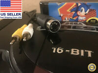 Sega Genesis Model 1 Composite Video AV Cable / RCA Cord 🏅 90-day Warranty