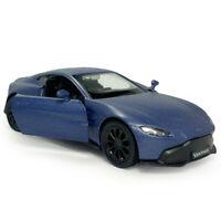 Aston Martin Vantage V8 1:36 Scale Model Car Diecast Toy Vehicle Matte Blue