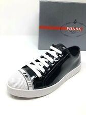$575 New PRADA Womens Vernice Black Sneakers Ladies Shoes Size 6 US 36 UK