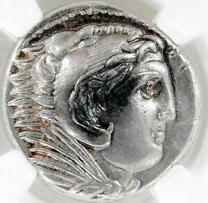 AU STRIKE Alexander III 336-323 BC Heracles MACEDON AR Tetradrachm COIN 5/5 GEM