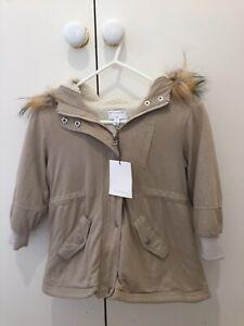Girls Size 4 Fleece Lined Winter Jacket - Witchery Brand