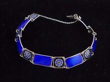 *RAR* Stilvolles Armband aus 925er Sterlingsilber Emaille D. Andersen / Norway