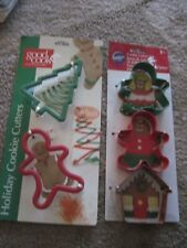 GOOD COOK (2) & WILTON Christmas Cookie Cutters (3) NEW