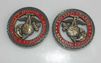 2 Pieces-US Marine Corps Challenge Coin Semper USMC Marine
