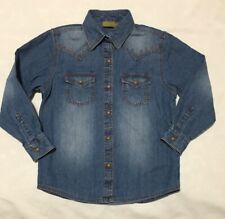 GW2031M Wrangler Girl/'s Long Sleeve Horseshoe Print Western Shirt NEW