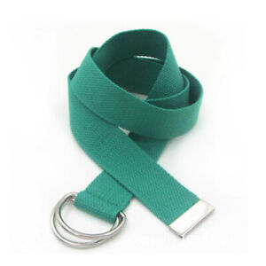 Mens Stretch Braided Elastic Woven Canvas Buckle Belt Waistband Waist Straps New
