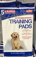 Pet Inc Pee Pee Ultra Absorbent Puppy Training Pads - Set Of 5 Pads 22 x 22