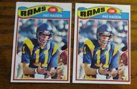 1977 Topps Football #18 Pat Haden - Rams (2)