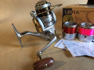 TICA LIBRA SA2500 Fishing Reel, Gold Class Series. 2 X Spare Spools. Like New