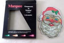1989 Noma Marquee Santa Claus Ornaments in Motion 2 Sided Light Xmas Ornament