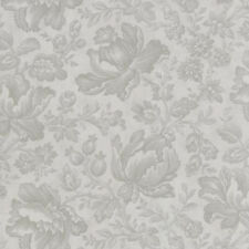 Moda 3 Sisters Whitewashed Cottage Floral Damask Fabric in Pebble 44062-14