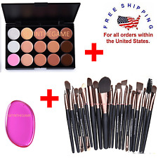 Concealer Palette Makeup Contour Face Cream 15 Color + 20 Brushes + SILISPONGE