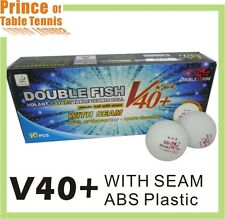 40x Double Fish V40+ 3 star Table Tennis Balls - with seam , ABS material