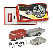 Schuco Piccolo Volkswagen T1 Combi with Porsche 356 and trailer kit 450557900