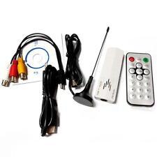 USB 2.0 TV Stick Tuner Receiver Adapter Worldwide Analog for PC Laptop DVD MKLG
