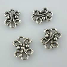 30pcs Knot Connectors Bails Antique Silver Charms Crafts Pendants 9*12mm