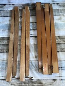 2 Sets Vintage 1970s Removable Legs Solid Teak From Folding Card Games Tables 8