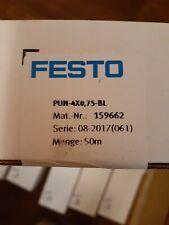 Festo Pun 4x075 Bl 159662 Blue 4mm Od Plastic Tubing 50 Meters New In Box