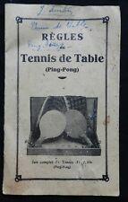 B8) RÈGLES DU TENNIS DE TABLE (PING-PONG) par Ph. Kratzer & Cie
