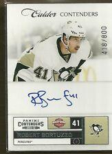 2011-12 Contenders Hockey Robert Bortuzzo Autographed Rookie Card #418/800