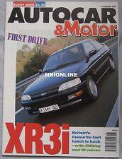 Autocar 5/2/1992 featuring BMW, Ford Escort XR3i, Vauxhall, Citroen, Honda