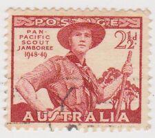 (W610) 1948 AU 2½d red pan pacific scouts (D)