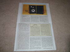JBL L46 Studio Monitor Review, 1982, 2 pgs, Full Test