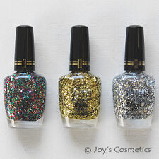 "3 MILANI Specialty Nail Lacquer Jewel FX ""Full Set "" Joy's cosmetics"