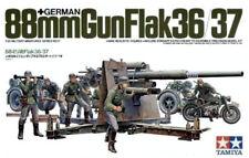 Tamiya 1/35 German 88mm Gun Flak 36/37 W/ 9 Figures & Zundapp PLASTIC KIT 35017