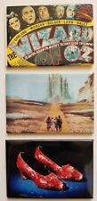 Set of 3 Wizard of Oz Collector Magnets - Movie Ad, Emerald City, Ruby Slippers