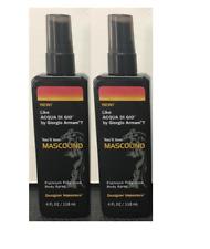 2x MASCOLINO Fragrance Body Spray For Men By Parfums De Coeur 4oz Holiday Gift!