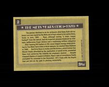 NOLAN RYAN 1990 Topps ERROR Blank FRONT  #2