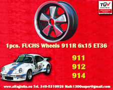 1 cerchio Porsche Felge 6x15 Schwartz poliert Porsche Carrera RS R 2.7 3.2 TUV