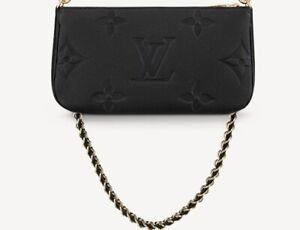 Louis Vuitton  MULTI Pochette Accessoires Monogram Empreinte leather NOIR