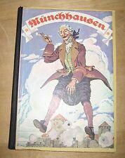 antikes Kinder Buch Münchhausen Weichert Verlag Beck 1920 1930