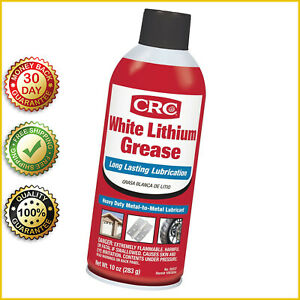 WHITE LITHIUM GREASE Spray Can 10 Oz CRC 5037 Universal Fit Hinges Gears Chains