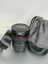Canon EF 24-105mm F4L IS USM Zoom Lens Genuine w/Caps Hood Pouch Official Filter