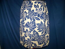 Ladies Talbots Taupe & Blue skirt LN SZ.10 Career Casual Sequins Cruisewear